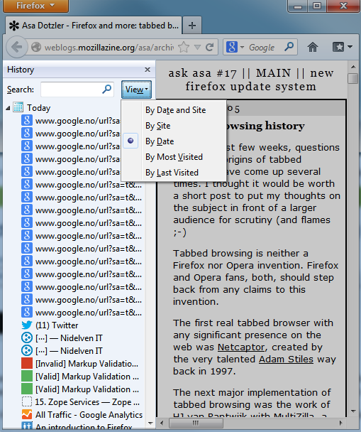 Firefox download manager, right click