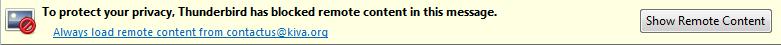 Thunderbird show remote content menu