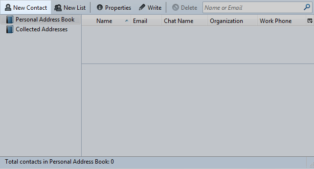 Thunderbird address book, new contact highlight
